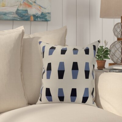 Harriet Bowling Pins Throw Pillow Color: Navy, Size: 18 x 18