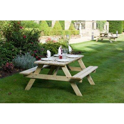 Picknicktisch aus Massivholz | Baumarkt > Camping und Zubehör > Weiteres-Campingzubehör | Brauneiche | Garten Living