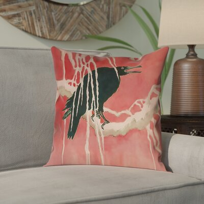 Montreal Crow and Willow Double Sided Print Pillow Cover Size: 14 x 14