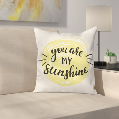 Hand Drawn Sun Romance Square Pillow Cover Size: 20 x 20