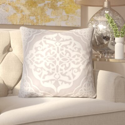 Dylan Throw Pillow Size: 20 H x 20 W x 4 D, Color: Medium Gray/Light Gray