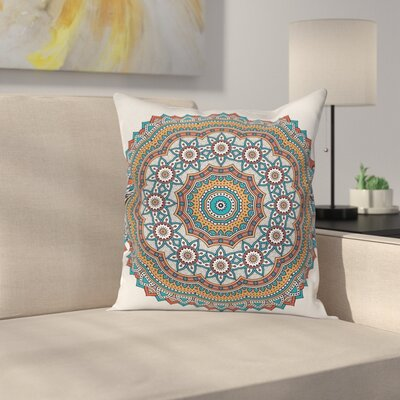 Fabric Vintage Moroccan Motif Square Pillow Cover Size: 16 x 16
