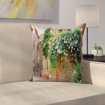Floral Alley Pillow Cover Size: 18 x 18