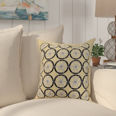 Crider Nautical Geo Square Geometric Print Indoor/Outdoor Throw Pillow Color: Yellow, Size: 20 x 20
