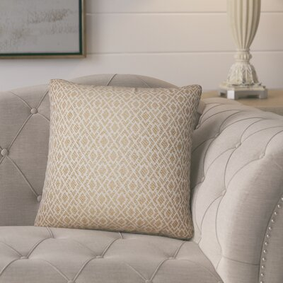 Talevi Geometric Throw Pillow Color: Camel