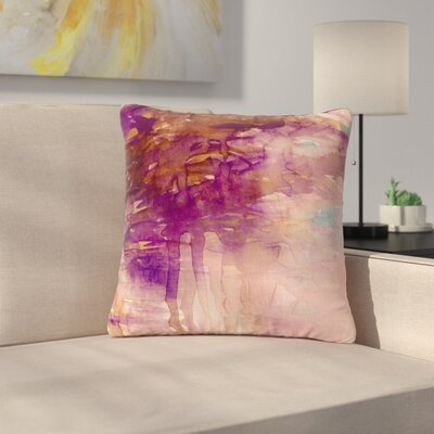 Ebi Emporium Carnival Dreams Outdoor Throw Pillow Size: 18 H x 18 W x 5 D, Color: Purple/Brown