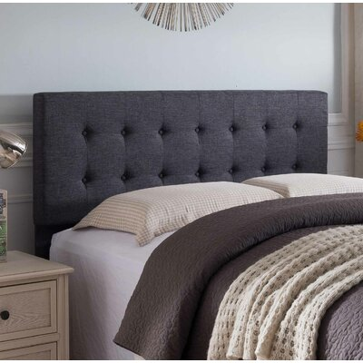 Frary Upholstered Panel Headboard Upholstery: Gray