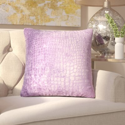 Chaim Solid Throw Pillow Color: Amethyst