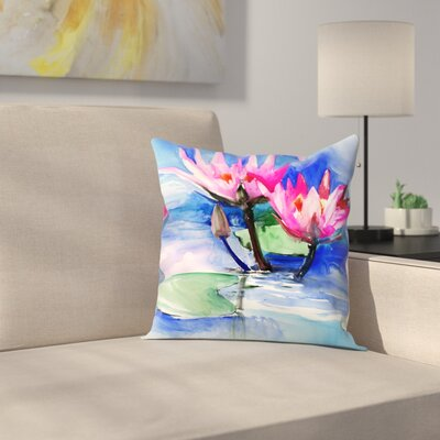 Suren Nersisyan Lotuses 3 Throw Pillow Size: 16 x 16