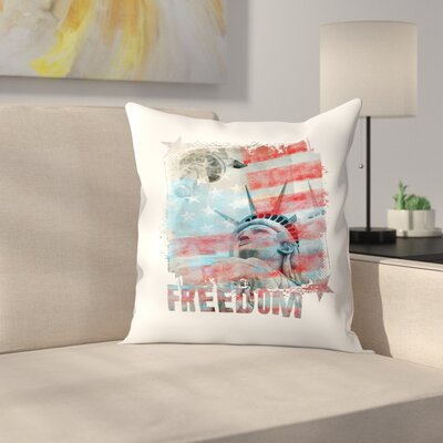 USA Throw Pillow Size: 20 x 20