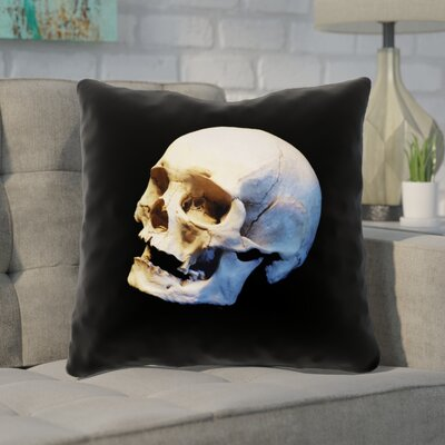 Mensa Skull Outdoor Throw Pillow Size: 18 x 18