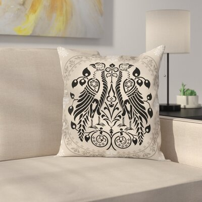 Ethnic Heraldic Eagles Square Pillow Cover Size: 20 x 20