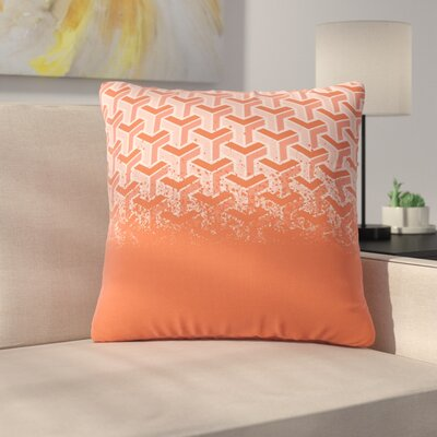 No Yard Throw Pillow Size: 18 H x 18 W x 6 D, Color: Coral