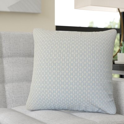 Recker Geometric Cotton Throw Pillow Color: Blue