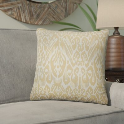 Nevaeh Ikat Cotton Throw Pillow Color: Barley