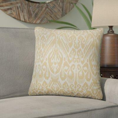Nevaeh Ikat Cotton Throw Pillow Color: Barley