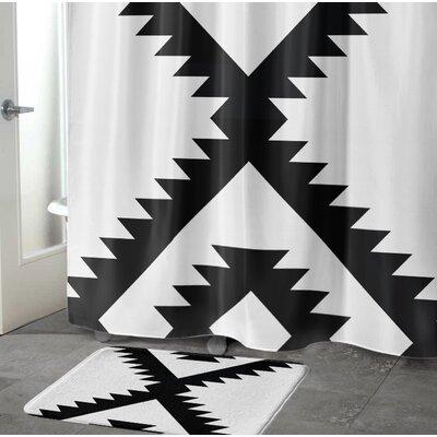 Levering Memory Foam Bath Rug Size: 24 W x 36 L, Color: Black/White