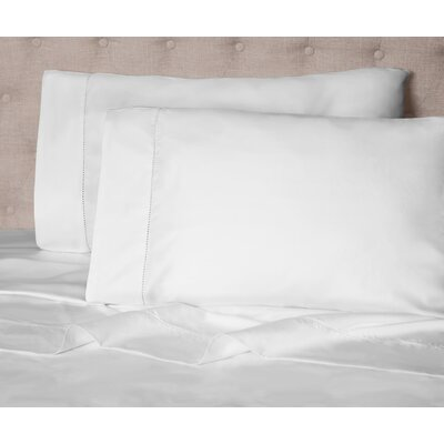 Haislip 400 Thread Count 100% Cotton Sheet Set Size: Queen, Color: White