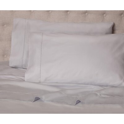 Haislip 400 Thread Count 100% Cotton Sheet Set Size: King, Color: Silver