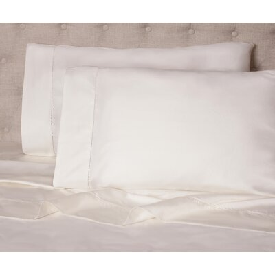 Haislip 400 Thread Count 100% Cotton Sheet Set Size: Queen, Color: Ivory