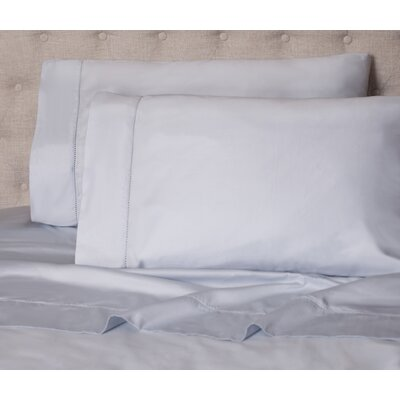 Haislip 400 Thread Count 100% Cotton Sheet Set Size: King, Color: Blue