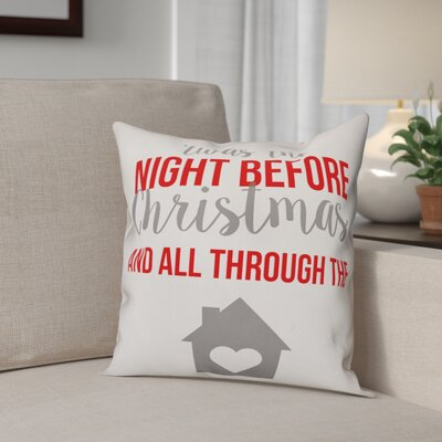 Night Before Christmas Polyester Throw Pillow Type: Pillow Cover