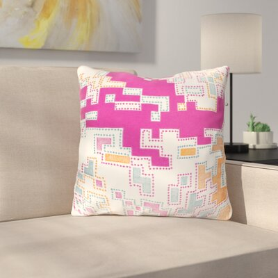 Wallace Cotton Throw Pillow Size: 18 H x 18 W x 4 D, Color: Magenta / Tangerine / Teal / Ivory