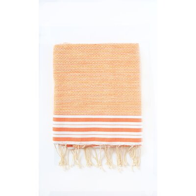 Pouncy Fouta Bath Sheet Color: Orange