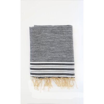 Pouncy Fouta Bath Sheet Color: Black