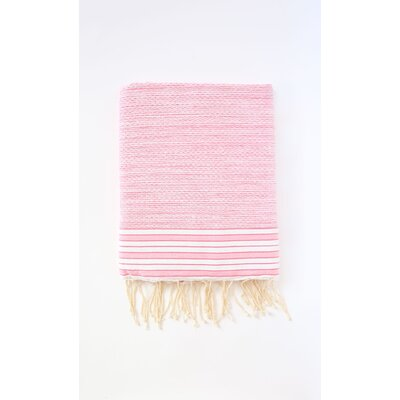 Pouncy Fouta Bath Sheet Color: Fuchsia