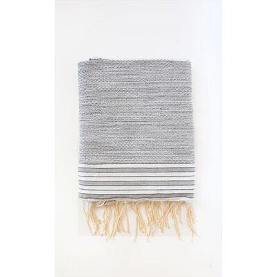 Pouncy Fouta Bath Sheet Color: Gray