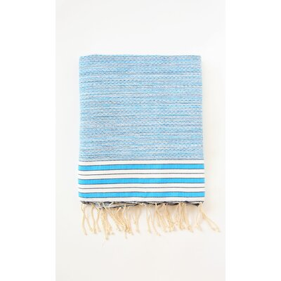 Pouncy Fouta Bath Sheet Color: Turquoise