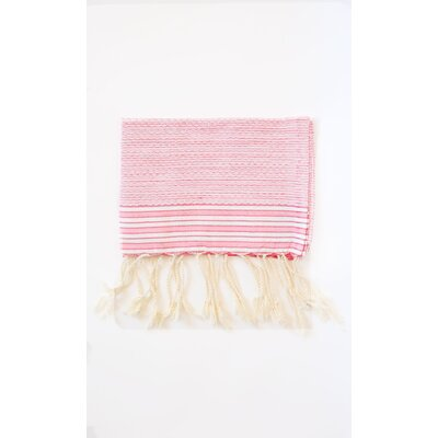 Pouncy Fouta Beach Towel (Set of 2) Color: Fuchsia