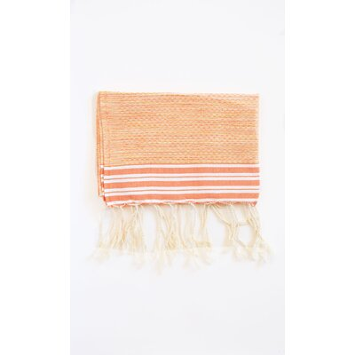 Pouncy Fouta Beach Towel (Set of 2) Color: Orange