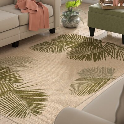 Cecile Natural Indoor/Outdoor Area Rug Rug Size: Rectangle 410 x 76