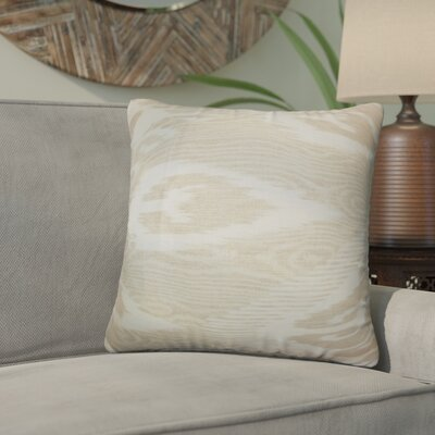Delano Ikat Linen Throw Pillow Color: Sandstone, Size: 18 x 18