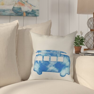 Golden Beach Beach Drive Geometric Outdoor Throw Pillow Size: 18 H x 18 W, Color: Blue