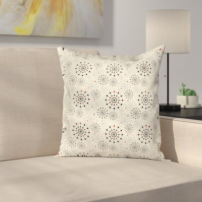 Ethnic Decor Square Pillow Cover Size: 16 x 16