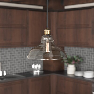 Fresno Dome 1-Light Mini Pendant Finish: Antique Brass