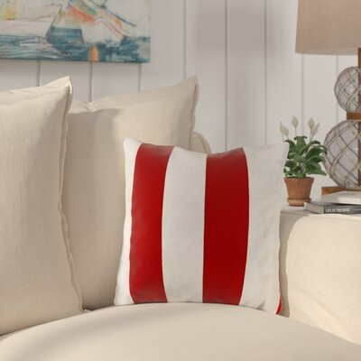 Huxley Outdoor Throw Pillow Color: Cabana Red