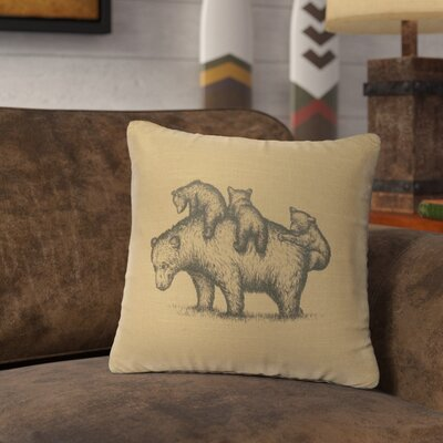 Nakashima Mama Bear Throw Pillow Color: Straw
