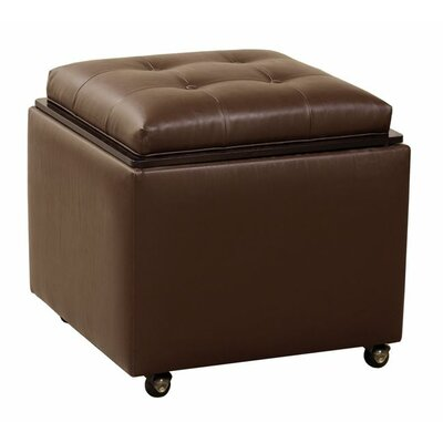 Cube Ottoman Body Fabric: Partner Black