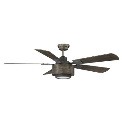 St George 52 Winchester 5 Blade LED Ceiling Fan with Remote Finish: Reclaimed Wood
