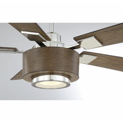 St George 52 Winchester 5 Blade LED Ceiling Fan with Remote Finish: Dark Wood