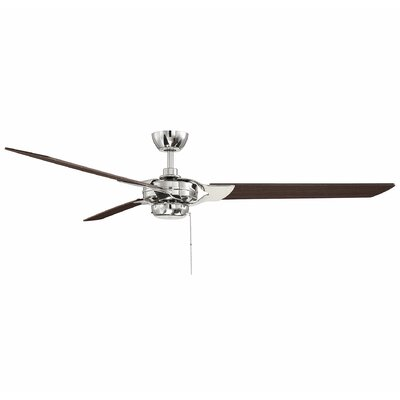 St Catherine 62 Monfort 3 Blade LED Ceiling Fan Finish: Chestnut