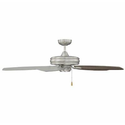 Genevie 52 Kentwood 5 Blade Ceiling Fan Finish: Silver/Gray Weathered Oak