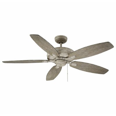 Genevie 52 Kentwood 5 Blade Ceiling Fan Finish: Aged Wood