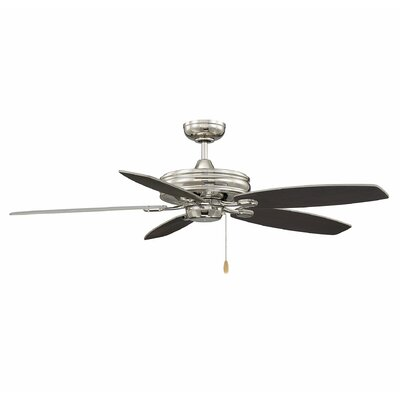 Genevie 52 Kentwood 5 Blade Ceiling Fan Finish: Chestnut/Silver