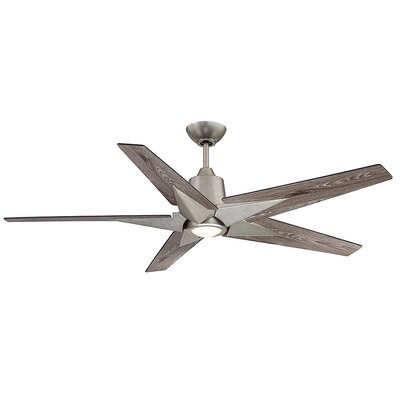St Annes Kenham 5 Blade LED Ceiling Fan with Remote Finish: Gray Weathered Oak