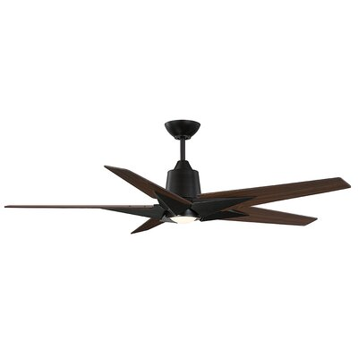 St Annes Kenham 5 Blade LED Ceiling Fan with Remote Finish: Walnut